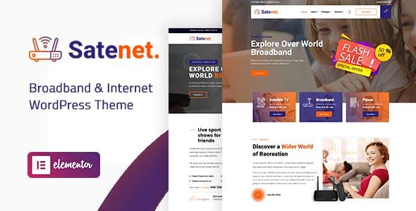 Satenet - Broadband & Internet WordPress Theme