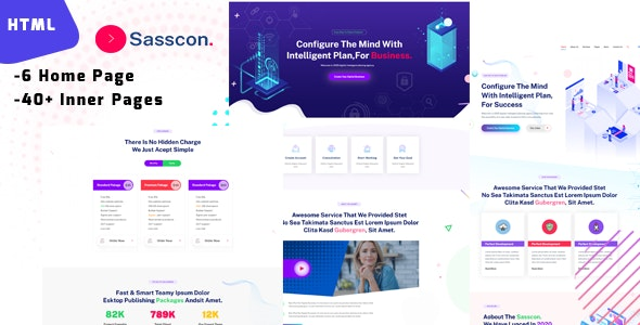 sasscon - Saas & Digital Agency Template - Software Technology