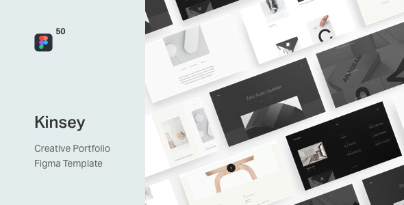 Kinsey – Creative Portfolio Figma Template - Portfolio Creative