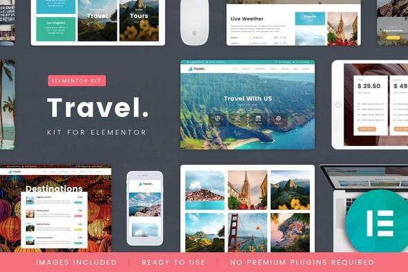 TravelTour - Travel & Booking Template Kit - Travel & Accomodation Elementor