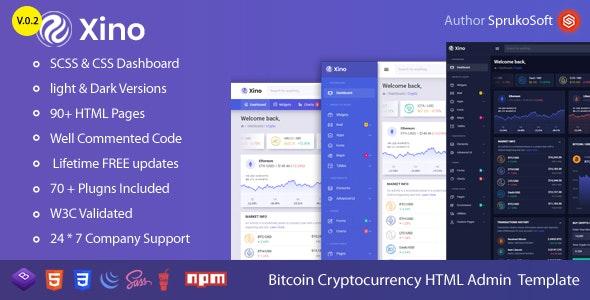 Xino –  BTC Dashboard HTML Template - Admin Templates Site Templates
