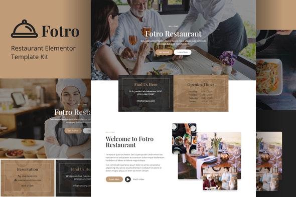 Fotro - Food & Restaurant Elementor Template Kit - Food & Drink Elementor