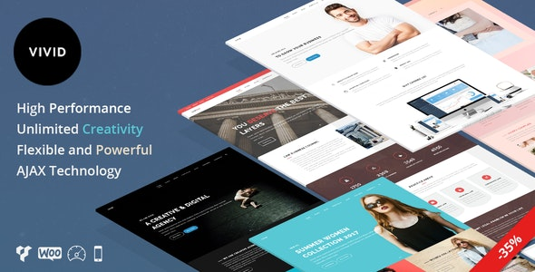 Vivid - Unique Multipurpose Theme For Creative Portfolio & Businesses - Creative WordPress