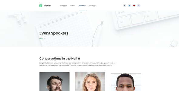 Meety – Conference & Meetup Template for WordPress