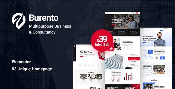 Burento - Multipurpose Business WordPress Theme - Business Corporate