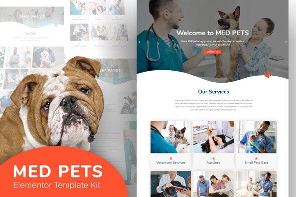 Med Pets - Template Kit for Elementor - Business & Services Elementor