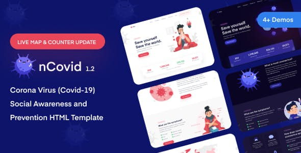 Download nCovid - Corona virus Medical Prevention Template