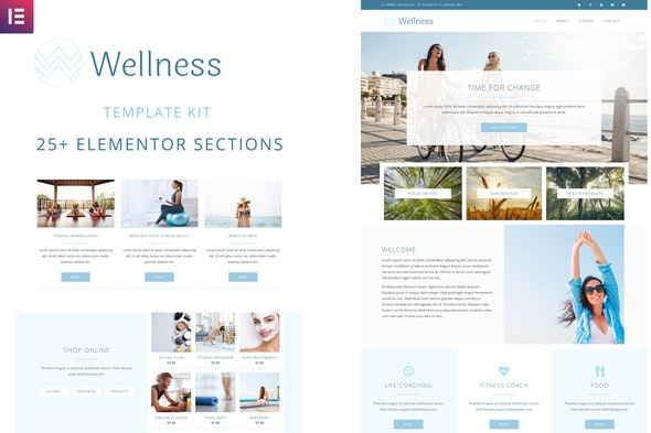 Wellness - Elementor Template Kit - Health & Medical Elementor