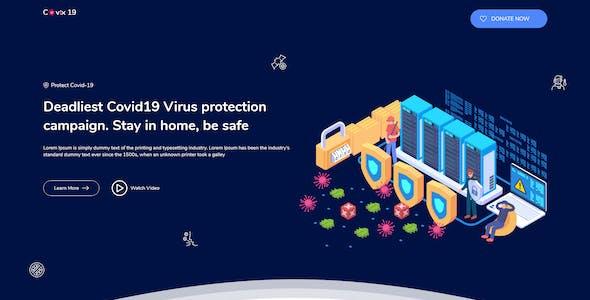 Covix-19 | Corona Virus Prevention, Awareness & Medical HTML5 Template
