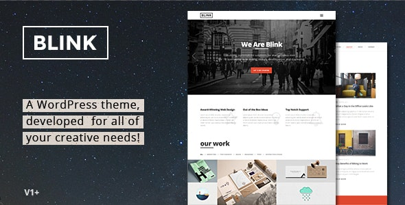 Blink - Parallax One Page WordPress Theme - Portfolio Creative