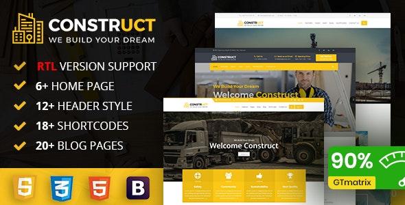 Construct : Construction, Building & Maintenance Business Template - Business Corporate