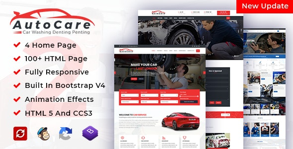 AutoCare | Car Service Car Washing & Car Repair HTML Template - Corporate Site Templates