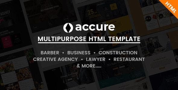 Accure - Multi Purpose Bootstrap 4 HTML Template - Site Templates