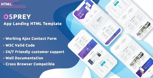 Osprey - App Landing HTML Template - Technology Site Templates