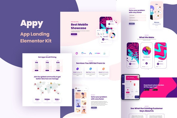 Appy - Sales & Landing Page Template Kit by SoftHopper | ThemeForest