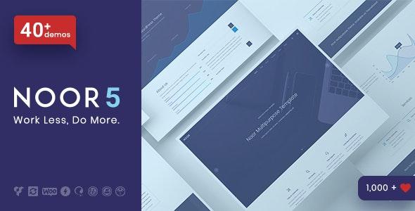 Noor - Minimal Multi-Purpose WordPress Theme, AMP & RTL - Creative WordPress