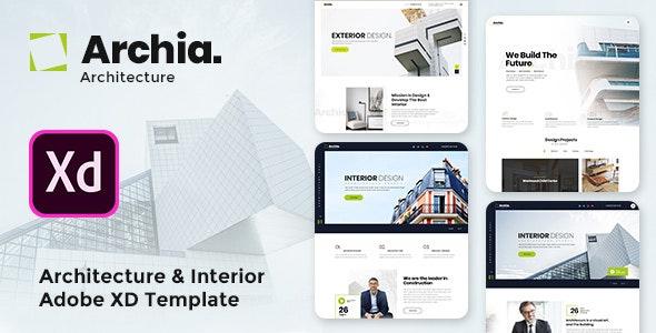 Archia - Architecture & Interior Adobe XD Template - Corporate Figma