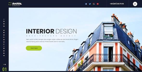 Archia - Architecture & Interior Adobe XD Template