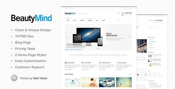 BeautyMind - Unique & Clean PSD Template - Corporate PSD Templates