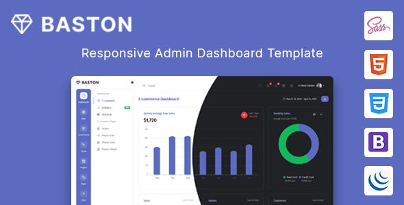 Baston - Admin & Dashboard HTML Template - Admin Templates Site Templates