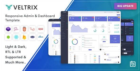 Veltrix - Admin & Dashboard Template - Admin Templates Site Templates
