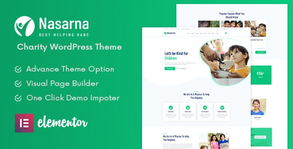 Nasarna - NonProfit Charity WordPress Theme - Charity Nonprofit