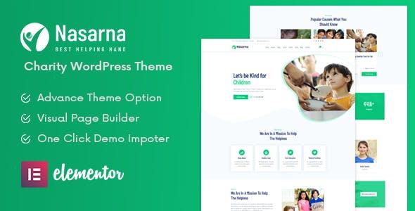 Download Nasarna - NonProfit Charity WordPress Theme