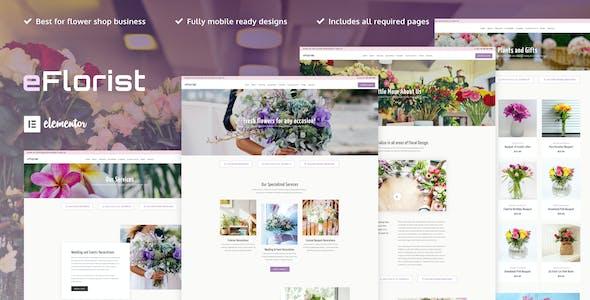 eFlorist - Flower Boutique & Decoration Elementor Template Kit