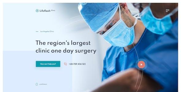Lifeflash - Medical PSD template