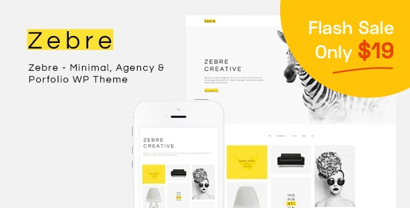 Zebre - Freelancer & Agency Portfolio Minimal WP Theme - Portfolio Creative