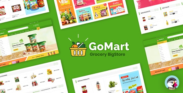 Gomart Grocery BigStore Prestashop 1.7 Theme - Shopping PrestaShop