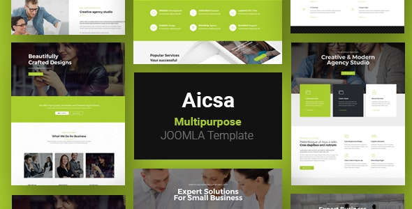 Aicsa - Responsive Multipurpose Joomla Website Template - Business Corporate