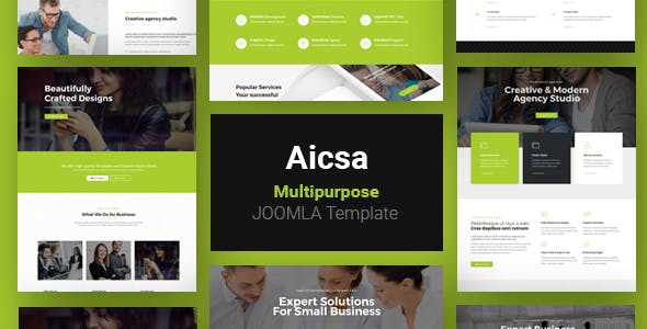 Aicsa - Responsive Multipurpose Joomla Website Template
