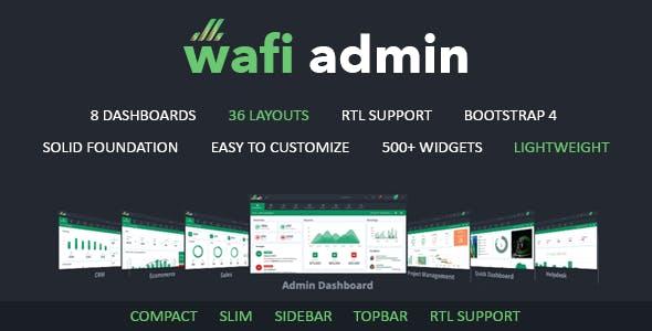 Wafi - Responsive Admin Dashboard Template + RTL