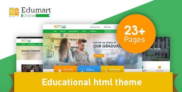 Edumart - Education Template - Business Corporate