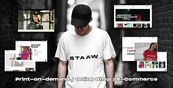 Staaw - Print-on-Demand WooCommerce Theme - WooCommerce eCommerce