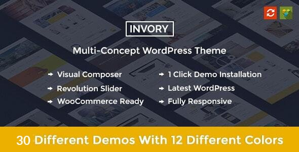 Invory - Multi-Concept woo-commerce WordPress theme - Corporate WordPress
