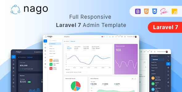 Nago - Laravel Admin Template - Admin Templates Site Templates