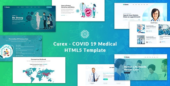 Curex - COVID 19 Medical HTML5 Template - Health & Beauty Retail