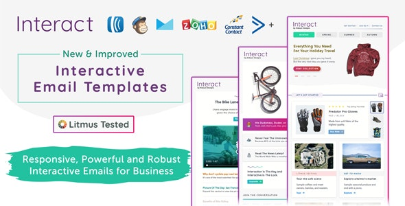 Interact - Interactive Email Templates + Robust Editor - Catalogs Email Templates