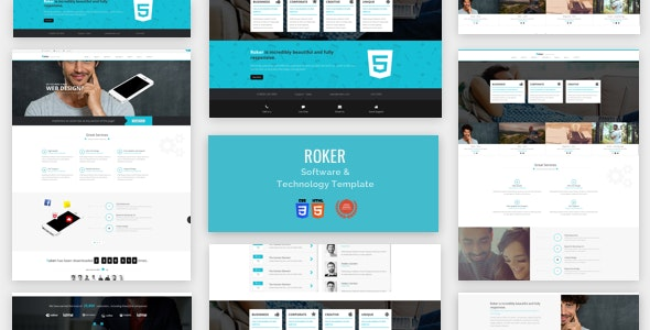 Software & Technology  Html Theme- Roker - Software Technology