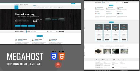 Mega Host - Bootstrap 3 - Html5 Hosting Template