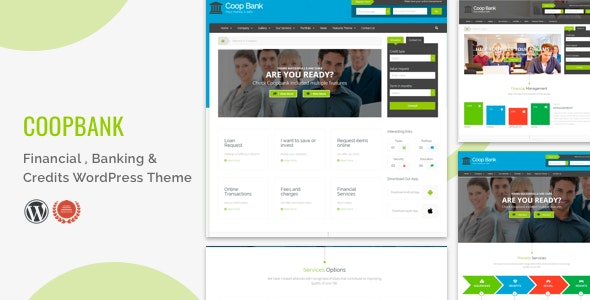 Financial , Banking & Credits WordPress Theme  | CoopBank - Business Corporate