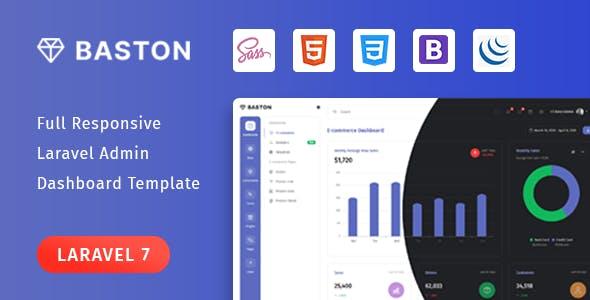 Baston - Laravel Admin Template