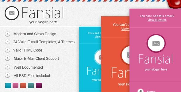 Fansial E-mail Newsletter - Email Templates Marketing