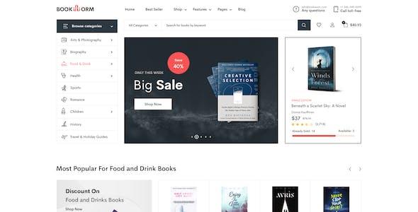 BookWorm - Clean & Modern Book Store PSD Template.