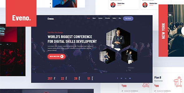 Eveno - Event & Meetup Conference Template - Events Entertainment