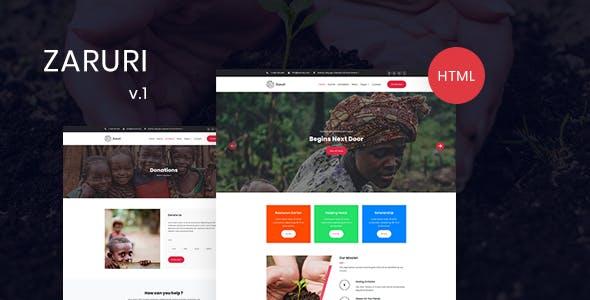 Download Zaruri - Charity HTML Template