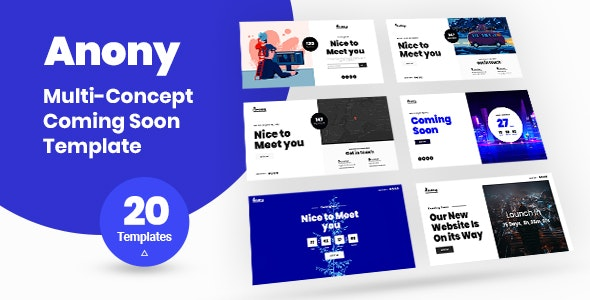 Anony – Coming Soon HTML5 Template - Under Construction Specialty Pages