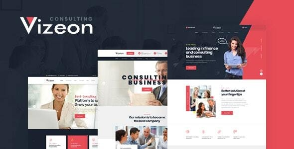 Vizeon - Business Consulting WordPress Themes - Business Corporate